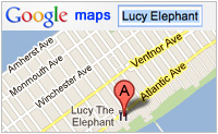 Lucy Elephant map