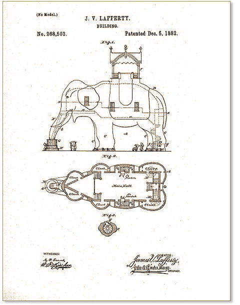 united kingdom the sale of shoes well known Lucy the Elephant, The U.S. Patent Illustration